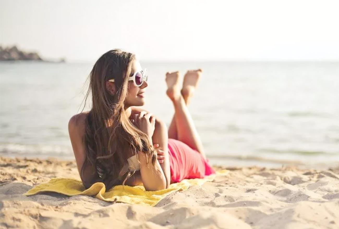 Sommer Sonne Haut und Haare